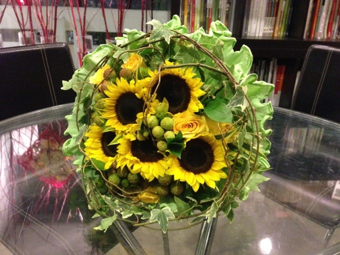 bouquet, sunflower, flower, myreika