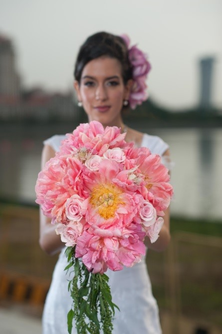 myreika, flower, peony, bouquet, amaranthu, wedding